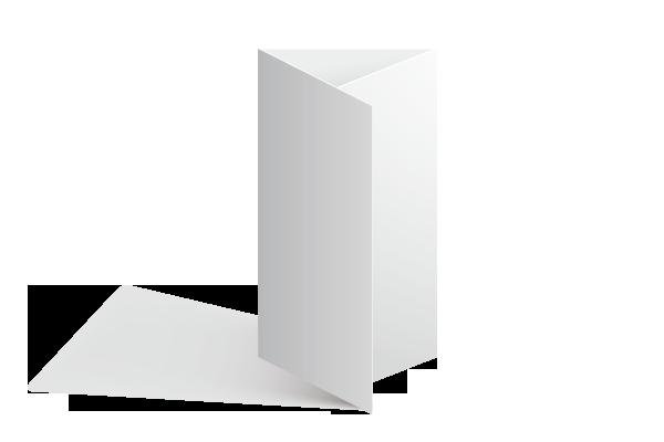 Dépliant 2 plis roulés Offset 5 - Création et Impression 100% Française