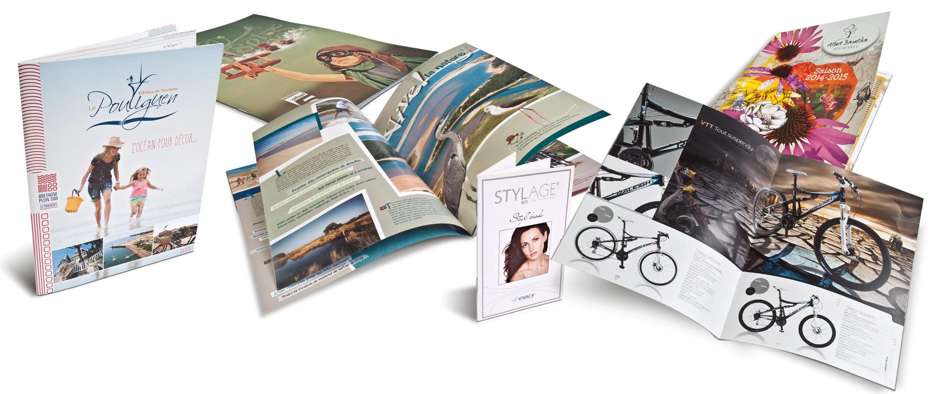 Création et Impression de brochures piquées Offset 5