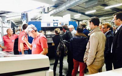 Visite des partenaires économiques de Saint Herblain à l'Imprimerie Offset 5 Edition
