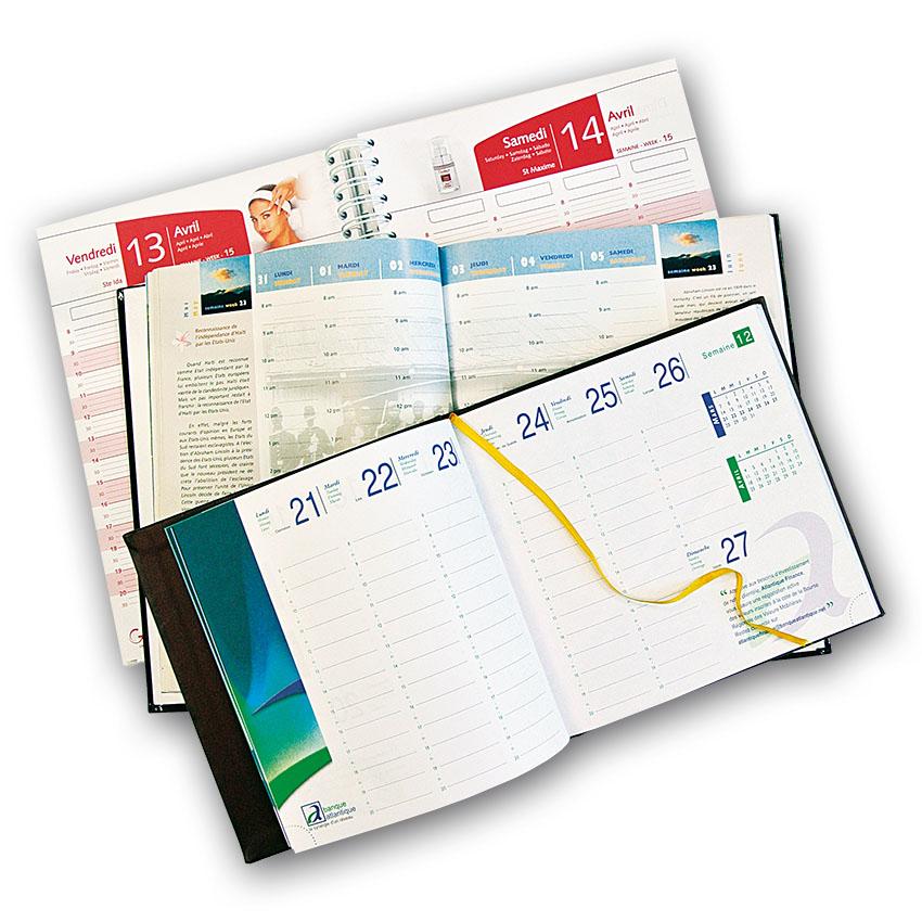 Impression agendas et calendriers