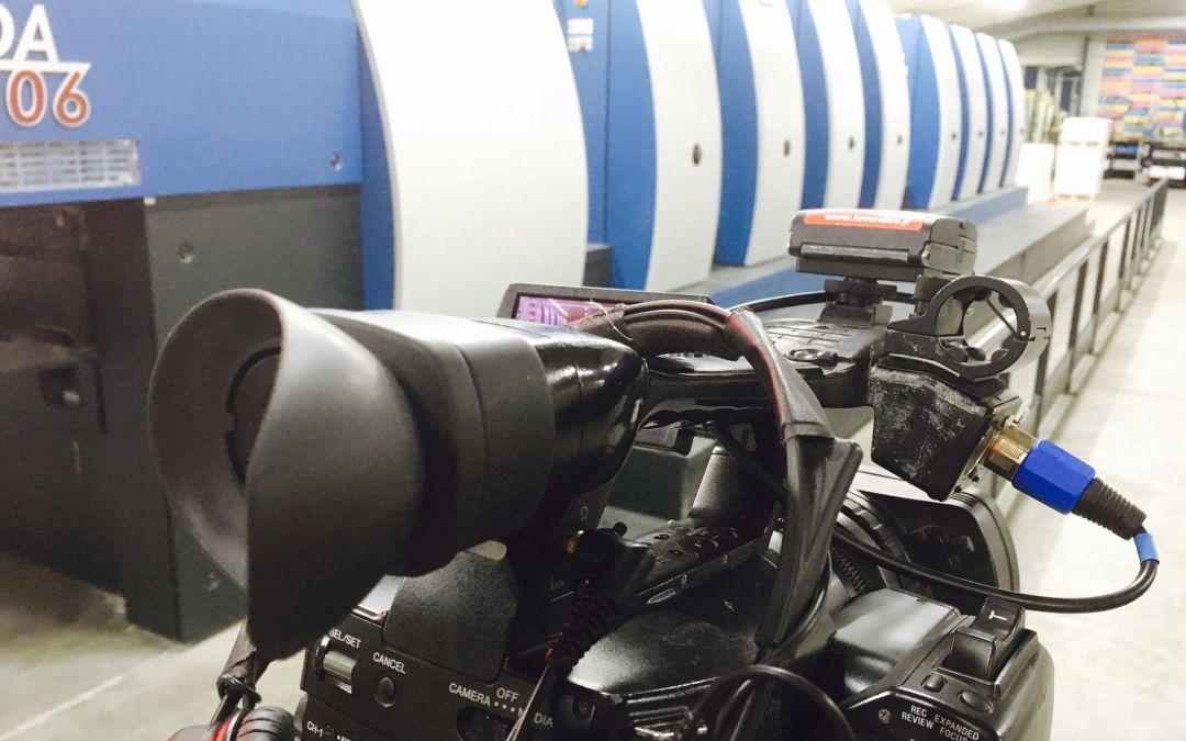 TV Vendée chez Offset 5 – Ambiance plateau de tournage!
