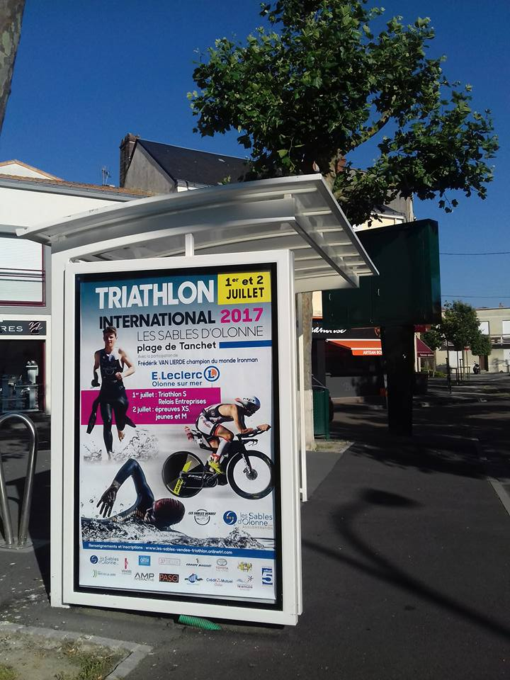 Triathlon International Les Sables d Olonne Affiche Offset 5