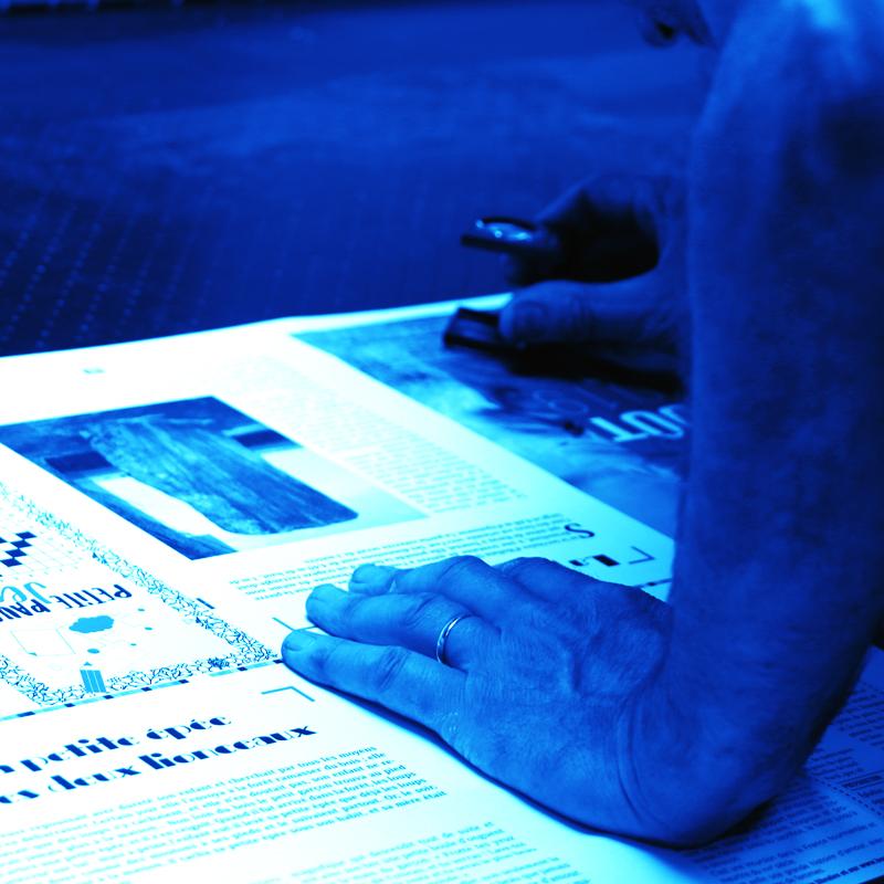Imprimerie Offset 5 Édition Blue 01 Imprimeur Passionnément