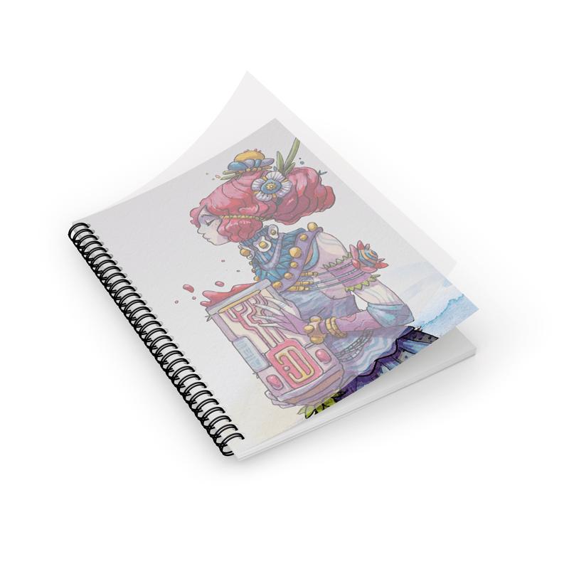 Cahier personnalisé 16x24 - Wire'O + Priplak - Exemple de réalisation par l'artiste Moon