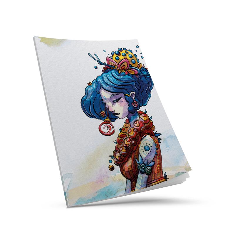 Cahier personnalisé A4 - Notebook A4 personnalisé - Exemple de l'artiste Moon